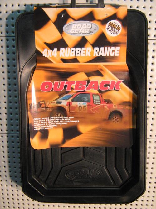 Floor Mats 4x4 Rubber Range Outback Front Set-2-0
