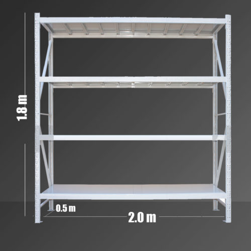 Storage Shelving Light Duty 600kg 1.8mx2.0mx0.5m-0